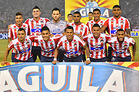 BARRANQUILLA - COLOMBIA ,08-06-2019: Formación del Atlético Junior ante el Deportivo Pasto  durante el primer partido de la final de la Liga Águila I 2019 jugado en el estadio Metropolitano Roberto Meléndez de la ciudad de Barranquilla . /Team of Atletico Junior agaisnt of Deportivo Pasto during the first game of the Liga Águila I 2019 final played at the Metropolitan Stadium Roberto Meléndez of the city of Barranquilla . Photo: VizzorImage / Alfonso Cervantes / Contribuidor.