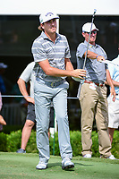 Kelly Kraft (USA) watches his tee shot on 17 during the round 1 of the Dean &amp; Deluca Invitational, at The Colonial, Ft. Worth, Texas, USA. 5/25/2017.<br /> Picture: Golffile | Ken Murray<br /> <br /> <br /> All photo usage must carry mandatory copyright credit (&copy; Golffile | Ken Murray)