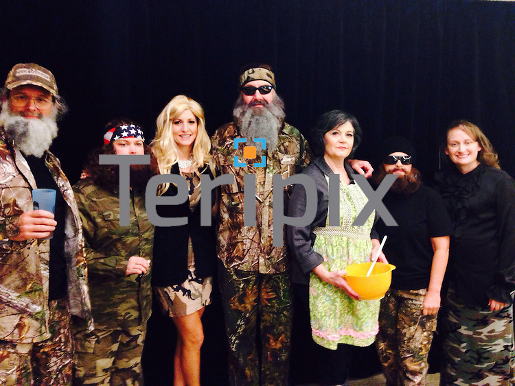"Gary Kelly, CEO of Southwest Airlines, dressed as  ""Phil"" from  Duck Dynasty, during Southwest Airlines' The Spirit of  Halloween show on Thursday, Oct. 31, 2014 at the company headquarters in Dallas, Texas."