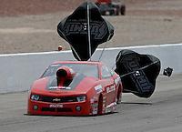 Apr. 7, 2013; Las Vegas, NV, USA: NHRA pro stock driver Rickie Jones during the Summitracing.com Nationals at the Strip at Las Vegas Motor Speedway. Mandatory Credit: Mark J. Rebilas-