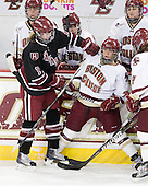 Kalley Armstrong (Harvard - 13), Dru Burns (BC - 7) - The Boston College Eagles defeated the Harvard University Crimson 3-1 to win the 2011 Beanpot championship on Tuesday, February 15, 2011, at Conte Forum in Chestnut Hill, Massachusetts.
