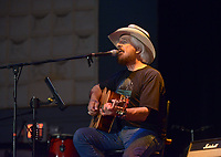 NWA Democrat-Gazette/BEN GOFF @NWABENGOFF<br /> Rick Dodson of Bentonville, a 1966 graduate of Bentonville High School, plays country tunes Saturday, July 15, 2017, during the Bentonville Alumni Association's 4th annual Sweet Jam Music Fest at Meteor Guitar Gallery in downtown Bentonville. The festival is a fundraiser that helps support scholarships the association gives each year to seniors in the Bentonville school district.
