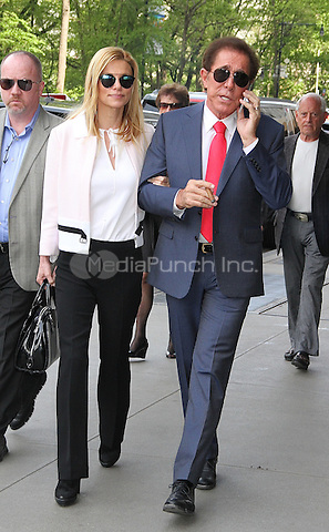 NEW YORK, NY - MAY 11: Steve Wynn and wife Andrea Hissom spotted in Midtown Manhattan in New York, New York on May 11, 2016.   Photo Credit: Rainmaker Photo/MediaPunch
