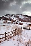 USA, Utah, Park City, the McPolin Farmstead and barn, bult in the 1920's