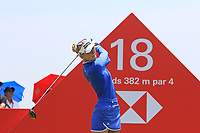 Jessica Korda (USA) in action on the 18th during Round 4 of the HSBC Women's World Championship 2018 at Sentosa Golf Club on the Sunday 4th March 2018.<br /> Picture:  Thos Caffrey / www.golffile.ie<br /> <br /> All photo usage must carry mandatory copyright credit (&copy; Golffile | Thos Caffrey)