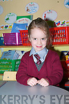 THE ONLY ONE:  Abbie Roche the newest student to join Lyreacrompane NS.   Copyright Kerry's Eye 2008