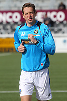 Former Millwall captain, Paul Robinson, currently of Havant and Waterlooville warms up ahead of kick-off during Maidstone United vs Havant and Waterlooville, Vanarama National League Football at the Gallagher Stadium on 9th March 2019