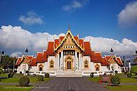 Ubosot Hall or Bot, Wat Benchamabophit, Bangkok, Thailand.