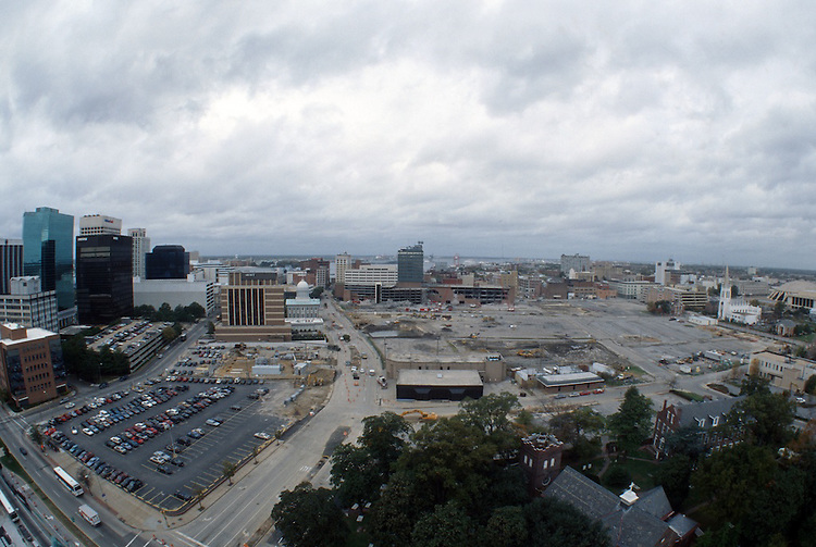 1996 November 08..Redevelopment..Macarthur Center.Downtown North (R-8)..LOOKING WEST FROM SCHOOL ADMINISTRATION BUILDING.SUPERWIDE...NEG#.NRHA#..