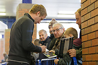 Swansea City manager Graham Potter signs autographs as he arrives prior to the game during the Sky Bet Championship match between Sheffield Wednesday and Swansea City at Hillsborough Stadium, Sheffield, England, UK. Saturday 23 February 2019