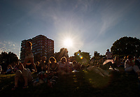 Fans on Murray Mound on Day 3<br /> <br /> Photographer Ashley Western/CameraSport<br /> <br /> Wimbledon Lawn Tennis Championships - Day 3 - Wednesday 5th July 2017 -  All England Lawn Tennis and Croquet Club - Wimbledon - London - England<br /> <br /> World Copyright &not;&copy; 2017 CameraSport. All rights reserved. 43 Linden Ave. Countesthorpe. Leicester. England. LE8 5PG - Tel: +44 (0) 116 277 4147 - admin@camerasport.com - www.camerasport.com
