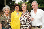From left: Beth Robertson, Karen Royce, Deborah Cannon and Tom Royce at the Zoo Friends of Houston's 22nd Zoo Ball Friday April 30,2010.  (Dave Rossman Photo)