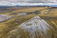 Aerial of the Brooks range mountains, Gates of the Arctic National Park, Alaska.