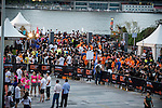 Warm-up before the race at the Bloomberg Square Mile Relay near the Huangpu River in Shanghai, China. Photo by Marcio Machado / Power Sport Images