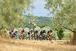 The breakaway group in action during Stage 19 of the 104th edition of the Tour de France 2017, running 222.5km from Embrun to Salon-de-Provence, France. 21st July 2017.<br /> Picture: ASO/Pauline Ballet | Cyclefile<br /> <br /> <br /> All photos usage must carry mandatory copyright credit (&copy; Cyclefile | ASO/Pauline Ballet)