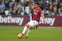 Fabián Balbuena during West Ham United vs Burnley, Premier League Football at The London Stadium on 3rd November 2018