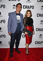 19 April 2017 - Los Angeles, California - Erika Reyna and Guest. Univision's 'El Chapo' Original Series Premiere Event held at The Landmark Theatre. Photo Credit: AdMedia