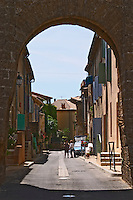 town gate chateauneuf du pape rhone france