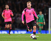 5th October 2017, Hampden Park, Glasgow, Scotland; FIFA World Cup Qualification, Scotland versus Slovakia;  Barry Bannan