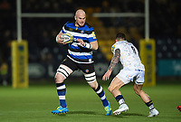 Matt Garvey of Bath Rugby in possession. Aviva Premiership match, between Worcester Warriors and Bath Rugby on January 5, 2018 at Sixways Stadium in Worcester, England. Photo by: Patrick Khachfe / Onside Images