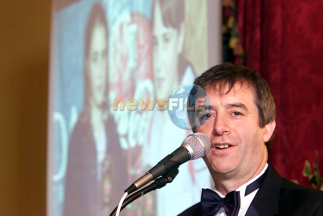 Hugo Reidy Drogheda Concentrates speaking at the Sport Star of the Year awwards..Picture Fran Caffrey Newsfile.