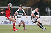 Mark Bright (Capt) of Ealing Trailfinders (right) during the Greene King IPA Championship match between Ealing Trailfinders and London Welsh RFC at Castle Bar , West Ealing , England  on 26 November 2016. Photo by David Horn / PRiME Media Images