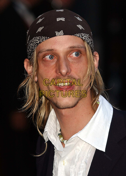"MACKENZIE CROOK.of ""The Office"".""Pirates of the Caribbean"" premiere.Odeon, Leicester Square.sales@capitalpictures.com.www.capitalpictures.com.©Capital Pictures.bandana, pirate"