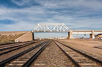 Railroad Bridge above train tracks in Cheyenne, WY