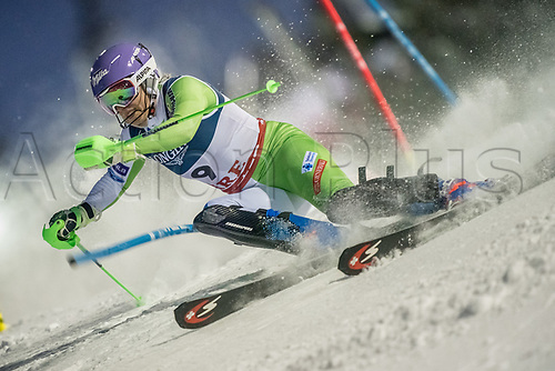 8th February 2019, Are, Sweden; Alpine skiing: Combination, ladies: Ilka Stuhec from Slovenia on the slalom course.