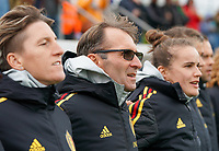20191101 - Tubize: Belgian assistant coach Luc Bosmans (M) pictured during the international friendly match between Red Flames U16 (Belgium) and Norway U16 on 1 November 2019 at Belgian Football Centre, Tubize. PHOTO:  SPORTPIX.BE   SEVIL OKTEM