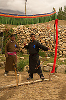 An Archery competition held in a village in Ladakh where archers, young and old competed for a regional prize. Archery is one of the traditional sports of Ladakh.