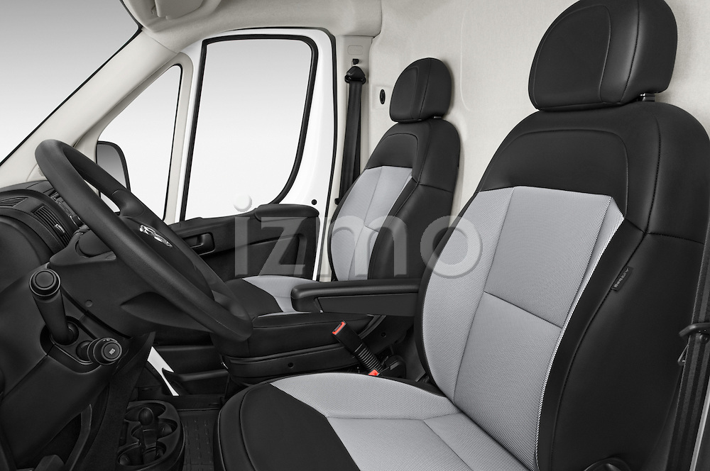 Front seat view of a 2017 Ram ProMaster 1500 118 WB Low Roof 2 Door Cargo Van front seat car photos