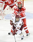 Joe Whitney (BC - 15), Ryan Ruikka (BU - 2) - The Boston College Eagles defeated the visiting Boston University Terriers 5-2 on Saturday, December 4, 2010, at Conte Forum in Chestnut Hill, Massachusetts.
