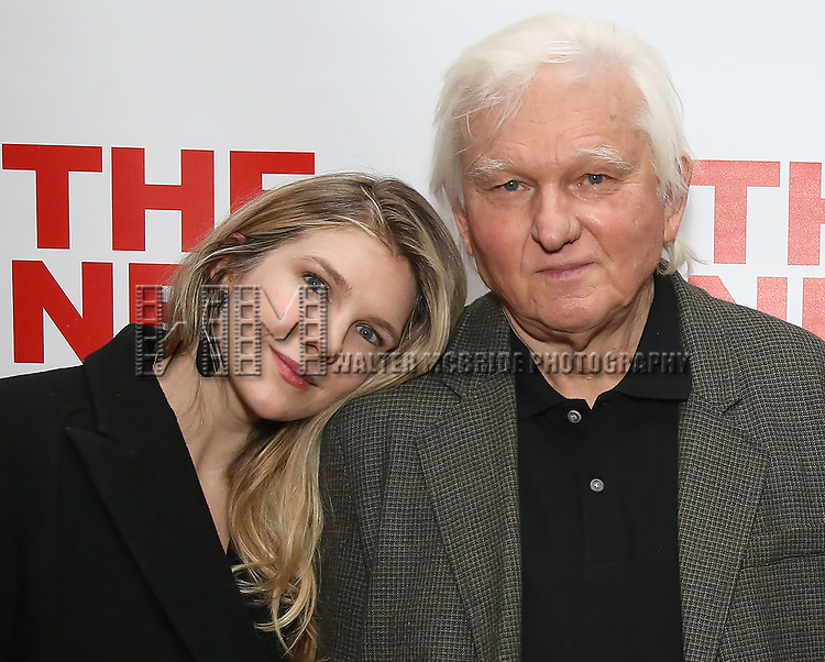 """Lily Rabe and David Rabe attends The New Group presents the New York Premiere Opening Night of David Rabe's for """"Good for Otto"""" on March 8, 2018 at the Green Fig Urban Eatery,  in New York City."""