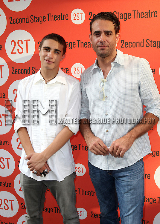Jake Cannavale & Bobby Cannavale.attending the Off-Broadway Opening Night Performance of Second Stage Theatre's 'Dogfight' at the Second Stage Theatr in New York City.