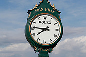 June 14th 2017, Erin, Wisconsin, USA; A general view of the Rolex clock at the practice green during the 117th US Open - Practice Round at Erin Hills in Erin, Wisconsin