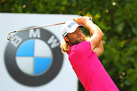 Johan Carlsson at the 16th tee during the BMW PGA Golf Championship at Wentworth Golf Course, Wentworth Drive, Virginia Water, England on 27 May 2017. Photo by Steve McCarthy/PRiME Media Images.
