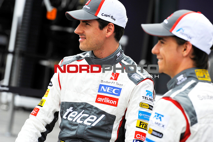Adrian Sutil (GER), Sauber F1 Team - Esteban Gutierrez (MEX) Sauber F1 Team<br />  Foto &copy; nph / Mathis