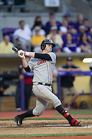 Georgia Bulldogs first baseman Jared Walsh #21 follows through on his swing during the Southeastern Conference baseball game against the LSU Tigers on March 22, 2014 at Alex Box Stadium in Baton Rouge, La. The Tigers defeated the Bulldogs 2-1. (Andrew Woolley/Four Seam Images)