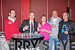 Fergal Enright, Finbar Birch, Mary Dalton, James Dalton and Billy McLeen at the Snooker at the INEC on Sunday