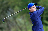 Liam Freeman (Ballaghaderreen) on the 1st tee during the Connacht U12, U14, U16, U18 Close Finals 2019 in Mountbellew Golf Club, Mountbellew, Co. Galway on Monday 12th August 2019.<br /> <br /> Picture:  Thos Caffrey / www.golffile.ie<br /> <br /> All photos usage must carry mandatory copyright credit (© Golffile | Thos Caffrey)
