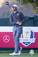 Thomas Pieters (Team Europe) on the 7th tee during the Saturday morning Foursomes at the Ryder Cup, Hazeltine national Golf Club, Chaska, Minnesota, USA.  01/10/2016<br /> Picture: Golffile | Fran Caffrey<br /> <br /> <br /> All photo usage must carry mandatory copyright credit (&copy; Golffile | Fran Caffrey)