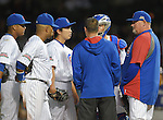 Tsuyoshi Wada, Chris Bosio (Cubs),<br /> JULY 28, 2014 - MLB : Chicago Cubs starting pitcher Tsuyoshi Wada (67) talks with pitching coach Chris Bosio (R) during the Major League Baseball game against the Colorado Rockies at Wrigley Field in Chicago, USA. The Cubs defeated the Rockies. Tsuyoshi Wada's first Major League win.<br /> (Photo by AFLO)