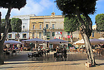 Independence Square, Pjazza Indipendenza,  town of Victoria Rabat, island of Gozo, Malta
