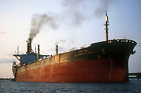 INDIA Kerala Kochi, indian oil tanker in harbour / INDIEN Cochin, indischer Oeltanker im Hafen