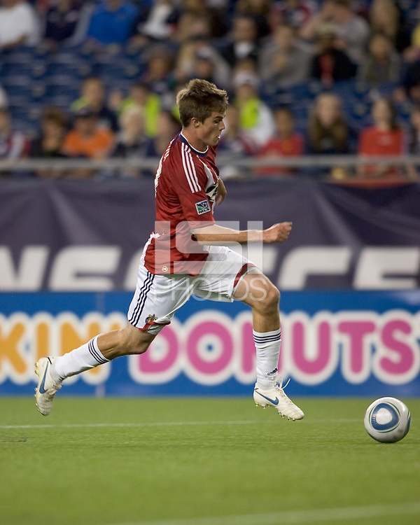 Chivas USA forward Justin Braun (17) on the attack. Chivas USA defeated the New England Revolution, 4-0, at Gillette Stadium on May 5, 2010.
