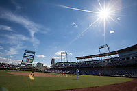 A general view of TD Ameritrade Park during Game 3 of the 2013 Men's College World Series between the North Carolina State Wolfpack and North Carolina Tar Heels on June 16, 2013 in Omaha, Nebraska. The Wolfpack defeated the Tar Heels 8-1. (Brace Hemmelgarn/Four Seam Images)