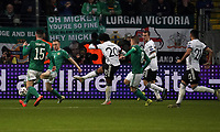 19th November 2019, Frankfurt, Germany; 2020 European Championships qualification, Germany versus Northern Ireland;  Serge Gnabry Germany scores the goal for 3-1