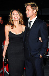 "Actors Angelina Jolie and Brad Pitt arrive at the NY Premiere of ""The Assassination of Jesse James by the Coward Robert Ford"" at the Ziegfeld Theater in New York City, New York on Tuesday, Septemeber 18, 2007."