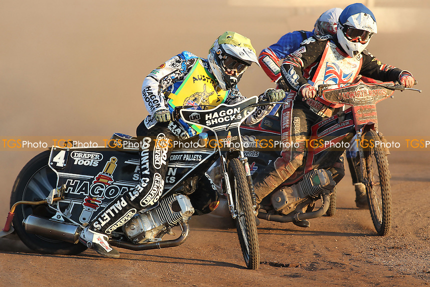 Heat 25: Darcy Ward (Australia) out in front - FIM Speedway World Under-21 Team Cup Semi Final at Arena Essex Raceway, Purfleet - 27/05/12 - MANDATORY CREDIT: Gavin Ellis/TGSPHOTO - Self billing applies where appropriate - 0845 094 6026 - contact@tgsphoto.co.uk - NO UNPAID USE.